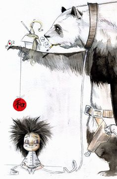 Yahoo Search Zombie Art Pandas Zombies Ideas Watercolour