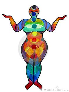 Plus Size Yoga Chakra Illustration