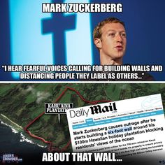 What a self-serving, prevaricating hypocrite! A wall to protect him, but no wall to protect Americans from those that enter illegally!