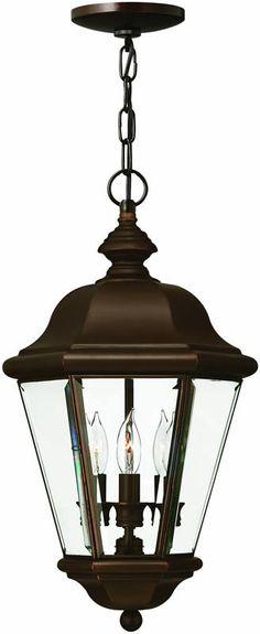 "0-085406>11""""w Clifton Park 3-Light Outdoor Pendant Copper Bronze"