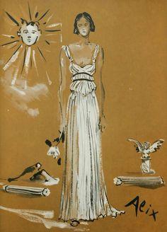 VOGUE Octobre 1937 Christian Bérard 15 robes de Paris