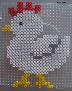 This project will take you to a journey of inspiration to make more projects using perler beads. This would take you less than an hour. Fuse Beads, Pearler Beads, Hama Beads Patterns, Beading Patterns, Pony Beads, Bead Crafts, Crafts For Kids, Kids Rugs, Crafty