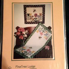 Flower Garden Bumble Bees Quilt Wall Hanging Table Runner Sewing Pattern | eBay