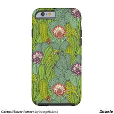Cactus Flower Pattern Tough iPhone 6 Case