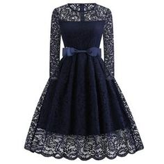 860e39244b4 Women Winter Lace Dress Long Sleeve Sexy Evening Party Dresses Hepburn 50s  Elegant Vintage Autumn Dress Plus Size Belt Tunic