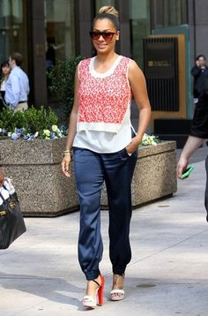 Lala Anthony looking comfy but chic.