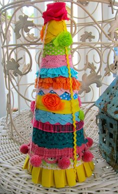 Love this decorative Mexican Christmas table tree!