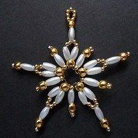 Prodané zboží uživatele chucha | Fler.cz Brooch, Ornaments, Beads, Jewelry, Stars, Pearls, Noel, Christmas, Beading