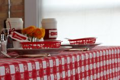 Diner Accessories. Coffee, baskets and guest order slips will have you running your party like an authentic diner.