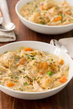 Crockpot Chicken and Dumplings Vertical