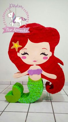 Sunshine Birthday Parties, 4th Birthday Parties, Little Mermaid Parties, The Little Mermaid, Princess Pinata, Mermaid Pinata, Mermaid Theme Birthday, Pinata Party, Party Themes