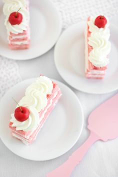Cherry Chip Sponge Cake with Almond Whip