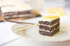 Makový koláč s bazovým krémom