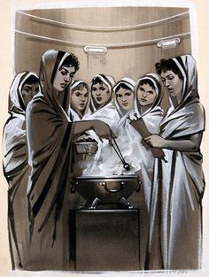 The Vestal Virgins (Original) art by Ancient Rome (Angus McBride) at The Illustration Art Gallery Roman History, Art History, Ancient Rome, Ancient History, Romulus And Remus, Eternal Flame, The Rite, Diane, Historical Fiction