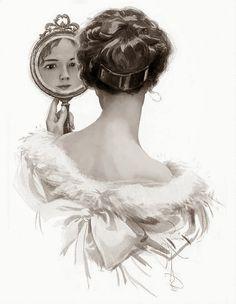 *TOPRAK ve AHŞAP*: ayna ayna söyle bana.... Antique Photos, Vintage Pictures, Old Photos, Tarot, Victorian Women, Decoupage Paper, Shabby Vintage, Christmas Deco, Vintage Ladies