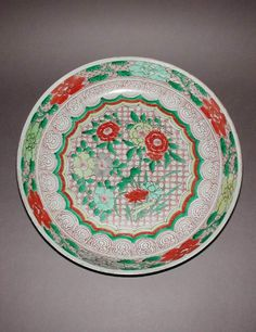 Maker(s) & Production:  Unknown, production, China  Category:  hard-paste porcelain  Name(s):  dish famille verte; category  Other Name:  saucer dish  Date:  circa 1662 — circa 1722