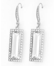 439655 Rhodiumized / Clear Glass & Rhinestone / Lead&nickel Compliant / Dangle / Fish Hook Earring Set