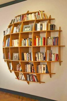 Creative Bookshelves, Bookshelf Ideas, Book Shelves, Bookshelf Inspiration, Wall Shelves, Ladder Bookcase, Storage Shelves, Book Storage, Bookshelf Wall