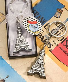 SALE as low as $ 1.49 Eiffel Tower Key Chain Favors - Quinceanera Style