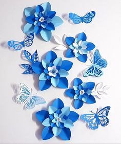 SALE Paper Flower Decorations 7 Table Decor PDF Digital flowers flowers decor Table Topper This is a set of Table Decorations Paper flower Toppers or Filler Flowers butterflies and leaves This template assists you to make up small flowers, butterf Paper Flowers Craft, Paper Flowers Wedding, Crepe Paper Flowers, Paper Flower Backdrop, Paper Roses, Flower Crafts, Paper Crafts, Small Flowers, Diy Flowers