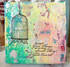so many layers of paint and papers and ink = love!