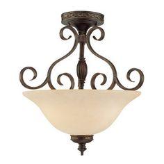 Millennium Lighting 18-in W Bronze/Gold Semi-Flush Mount Ceiling Light