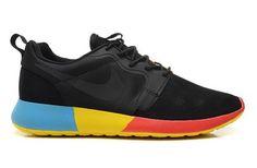 Nike Roshe Run Hyp Qs 3m Mens Shoes Black Orange Yellow Blue New Best Price
