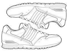 Jordan Shoe Coloring Book Beautiful Free Jordan Coloring Pages Printable Coloring Junction Shoe Sketches, Flat Sketches, Coloring Pages For Boys, Coloring Books, Coloring Sheets, Free Coloring, Fashion Flats, Sneakers Fashion, Shoes Sneakers