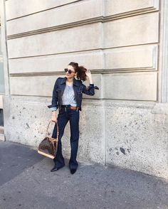 """Eleonora Carisi on Instagram: """"Traveling denim, ready to rock my #Lvtrip in Bangkok ✈️ . I'm very excited to come back after 5 years •follow my live travel diary on snapchat ( : eleonoracarisi ) #LvCityGuide @louisVuitton #denimOndenim"""""""