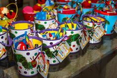 Favors from a Very Hungry Caterpillar Party #veryhungrycaterpillar #partyfavors