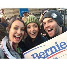 YES!!! I love finding my friends out and about at events worth going to!!! #feelthebern #atlantaforbernie #soulsisters