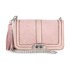 "Love quilted leather crossbody bag by Rebecca Minkoff. Quilted style with suede accents and tassel charmRemovable chain shoulder strap, 22"" dropTurnlock..."