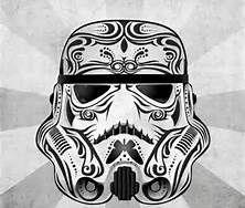 sketch of a storm trooper helmet - Bing Images