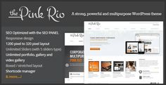 Pink Rio is a strong and powerful theme with a clean, corporate and responsive layout. This theme is really suitable for users with no programming background, so you can set any color to elements such as backgrounds, links, text, menu links, etc. and completely change the look and feel of your site in few seconds.