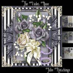 The Violet Rose Card Front Kit - CUP759360_1483 | Craftsuprint
