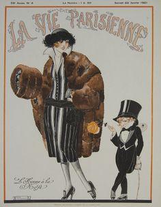 La Vie Parisienne - L'Homme à la Rose - January 1921 – Rue Marcellin Vintage French Posters and Prints