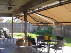 Retractable awnings make the patio livable again. #AwningsOfTulsa