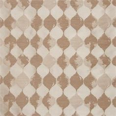 "Palisade Tile Latte brown: white washed tile pattern | 108"" inch or 120"" inch curtains 