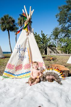 The most ADORABLE Teepee Indians 1st Birthday Party. See all of the details on www.prettymyparty.com.
