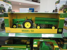1/16th John Deere Model 50 & wagon at JD Equipment