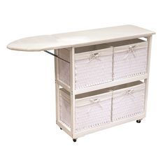 Laundry Ironing Station with Four Large Baskets | Overstock.com Shopping - The Best Deals on Ironing Boards