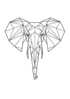 65 Trendy ideas for tattoo geometric elephant tatoo Geometric Drawing, Geometric Designs, Geometric Shapes, Geometric Animal, Geometric Elephant Tattoo, Mandala Elephant, Elephant Tapestry, Elephant Tattoos, Elephant Print