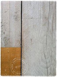 Krijtverf gebruiken voor het verven van nieuw steigerhout