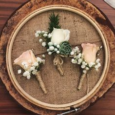 Rustic Wedding Corsage by Forever Style