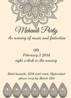 Mehndi And Sangeet Invitation Wording Reception Invitation Wording, Invitation Card Sample, Cowboy Invitations, 60th Birthday Invitations, Anniversary Invitations, Wedding Invitation Cards, Party Invitations, Invitation Ideas, Invitation Templates