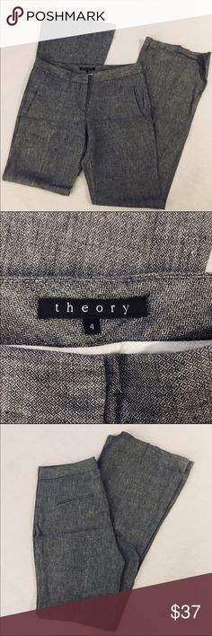 """Theory gray trousers Theory gray wide leg trousers - inseam 32"""" - 💜like new Theory Pants Trousers"""