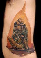 Tatuaż  unikalna kopia#tattoo refleksja