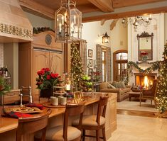 Comfortable, Relaxed, and Inviting Home for the Holidays - Traditional Home®.Wow if I was to do it again it would be this!