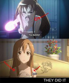 No es misterio hay un manga 16.5 y no sé qué cosa donde de explica la vida íntima de los dos..... - mucha información Lo sé... Lo se Got Anime, Anime One, Manga Anime, Sword Art Online Kirito, Shadow Art, Anime Kunst, Asuna, Naruto Run, Anime Couples