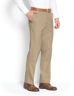 a892187112 ORVIS Poplin CHINO Flat FRONT Mens PANT Sz SIZE Cotton BLEND Comfort WAIST  42 27 #